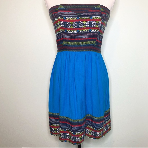 Urban Outfitters Dresses & Skirts - UO Silence + Noise Aztec Strapless Mini Dress M
